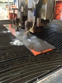 "Cutting 1"" plate with two heads"
