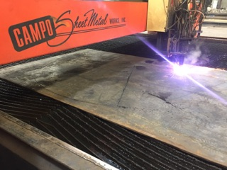 "1/2"" plate cut on plasma"