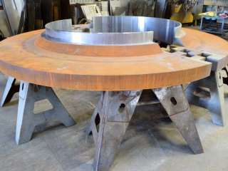"""5 1/2"""" thick flange cut on Water Jet"""
